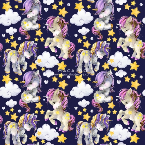 Unicorn pattern digital print 100% cotton woven fabric