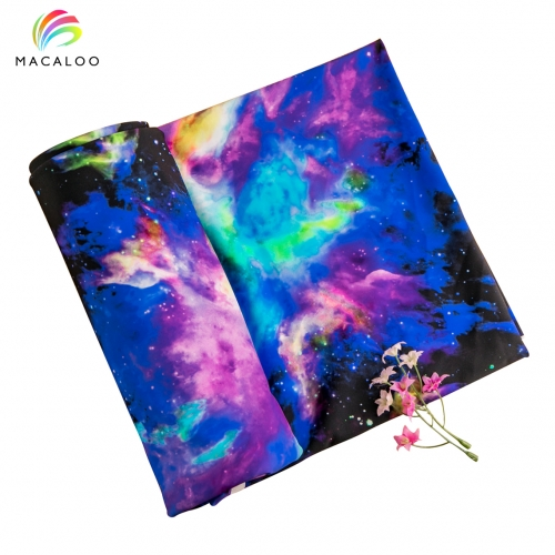 Breathable custom printed nylon lycra fabric for Yoga