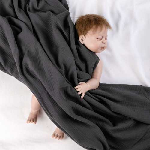 Baby age group and home use organic cotton swaddle blanket
