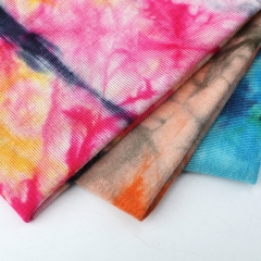 MCCY0032-10 180gsm Rayon Spandex Tie-Dyed Fabirc