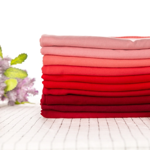 Red Series knitted technics cotton lycra single jersey fabric