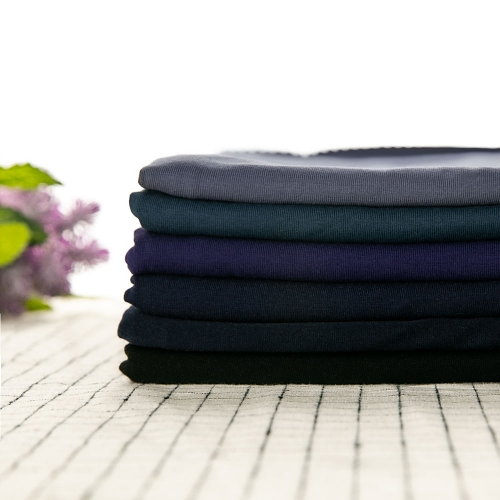So soft and perfect for baby clothes plain dyed dark tone cotton lycra jersey knit fabric